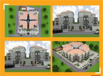 1, 2, and 3 bedroom apartments in serviced Private Estate