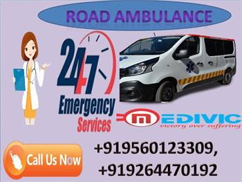 Take  Top Class Road Ambulance Service in Patna at Low Price