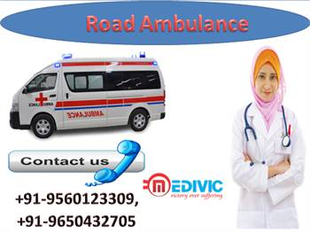 Receive Low Fare Road Ambulance Service in Jamshedpur by Medivic Ambulance